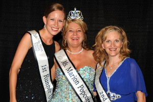 1st Runner up Kim Bradshaw, Ms. Marion Popcorn Festival 2014 Sabrina Cranmer, 2nd Runner up Stacie Hines.