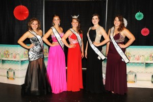 2014 Miss Marion Popcorn Festival court (L-R) Hunter Boyce, Aaryn Workman, Kari Boles, Moira Vaughn, Courtney Hamilton was announced at River Valley High School, Saturday, Aug. 2, 2014. For The Marion Star/Melanie Straka