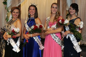 2nd runner up Hunter Boyce, Miss Marion Popcorn Festival 2015 Elizabeth Corwin, 1st runner up Halle Augenstein, and 3rd runner up Ranissa Harrison.