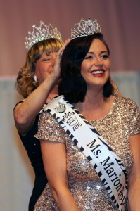 2014 Ms. Marion Popcorn Festival, Sabrina Cranmer, crowned the newly named Paige Filliater Ms. Marion Popcorn Festival 2015.