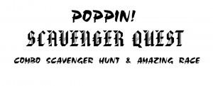 Poppin Scavenger Quest