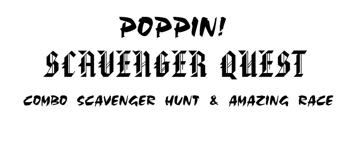 Join in the Poppin Scavenger Quest