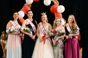 2016 Miss Marion Popcorn Festival & Court (left to right): 3rd Runner-Up Annslea Schaber, 1st Runner-Up Hannah Fuller, Miss Marion Popcorn Festival 2016 Jayna Kubuske, 2nd Runner-Up Shannon Lyle, 4th Runner-Up Courtney Hamilton.