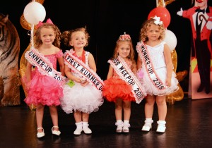 2016 Miss Wee Pop & Court (left to right): 3rd Runner-Up Lillian Oswald, 1st Runner-Up Kayann Nelson, Miss Wee Pop 2016 Savannah Guadarrama, and 2nd Runner-Up Addison Geiser.