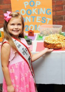 Taking 2nd place was Paytn Smith with her Popcorn Infused Cheesecake with a Salted Caramel Popcorn Topping. The youngest to have ever entered the contest, Smith's goal is to be a chef one day. She garnered $100 in cash and prizes.