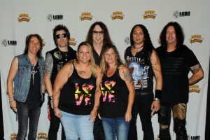 Saturday's Meet & Greet Raffle winner was Shirley Harris, who, in addition to meeting and having her picture taken with Skid Row, received two Kernel Seats up front, an autographed studio photo, meal and drink vouchers.