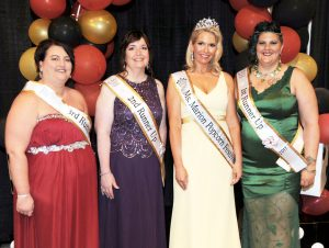 From(L – R) 3rd Runner- Jennifer Martin, 2nd Runner-Up Steffany Loper, Ms. Marion Popcorn 2017 Michelle Maynard, and 1st Runner-Up Josette Schaber.