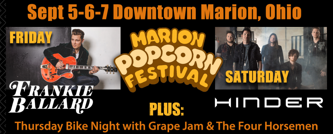 Frankie Ballard, Hinder to Headline 2019 Marion Popcorn Festival